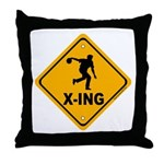 Bowl X-ing Throw Pillow
