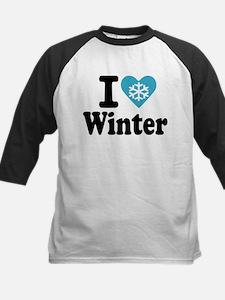 I love winter Kids Baseball Jersey