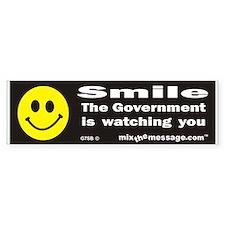 Smile - The Government... Bumper Bumper Sticker