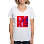DYKE Women's V-Neck T-Shirt