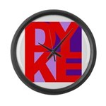 DYKE Large Wall Clock