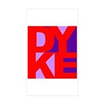 DYKE Rectangle Sticker 50 pk)