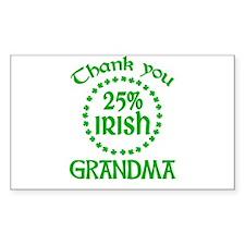 25% Irish - Grandma Rectangle Decal