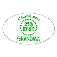 25% Irish - Grandma Oval Decal
