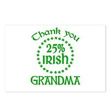 25% Irish - Grandma Postcards (Package of 8)