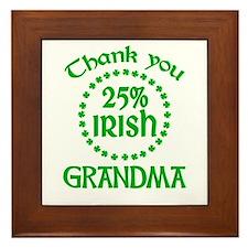 25% Irish - Grandma Framed Tile