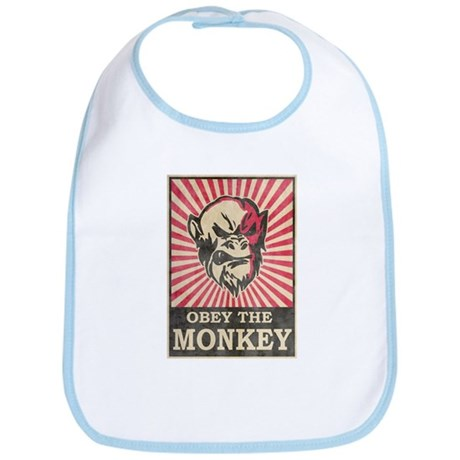 Obey The Monkey Bib