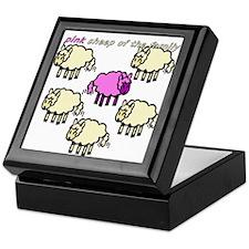 Pink Sheep Keepsake Box