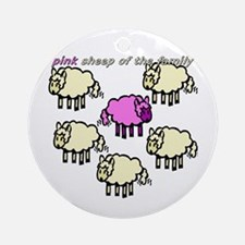 Pink Sheep Ornament (Round)