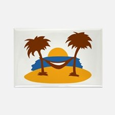 Island - Beach Rectangle Magnet