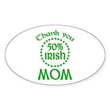 50% Irish - Mom Oval Decal