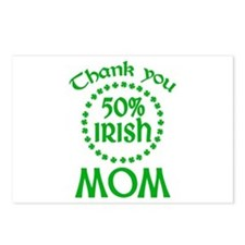 50% Irish - Mom Postcards (Package of 8)