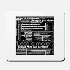 Designer's Quotes Mousepad