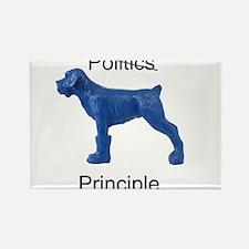 Cute Blue dog democrat Rectangle Magnet