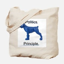 Cute Blue dog democrat Tote Bag