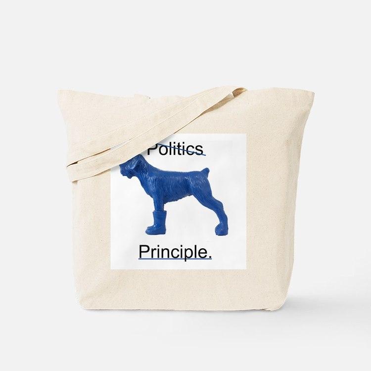 Cute Blue dog democrats Tote Bag