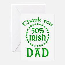 50% Irish - Dad Greeting Cards (Pk of 20)