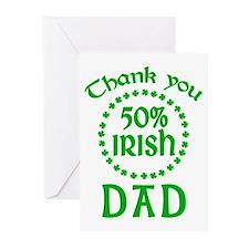 50% Irish - Dad Greeting Cards (Pk of 10)