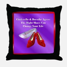 Right Shoes Throw Pillow