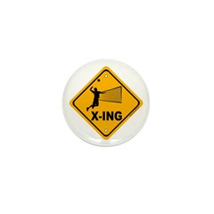 Volleyball X-ing Mini Button (10 pack)