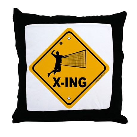 Volleyball X-ing Throw Pillow