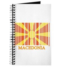 Barcode Macedonia Flag Journal