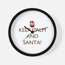keep calm and Santa Wall Clock