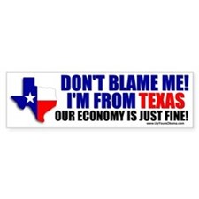 I'm From Texas Bumper Bumper Sticker
