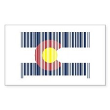 Barcode Colorado Flag Rectangle Decal
