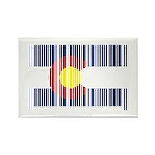 Barcode Colorado Flag Rectangle Magnet