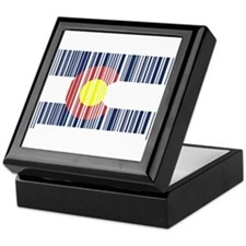 Barcode Colorado Flag Keepsake Box