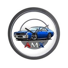 Blue AMX Wall Clock