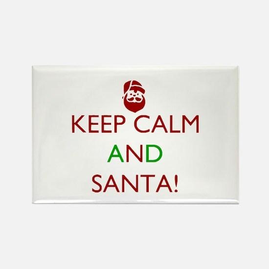 keep calm and Santa Magnets