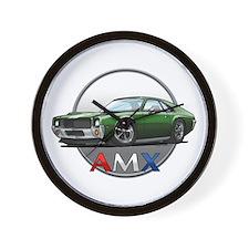 Green AMX Wall Clock