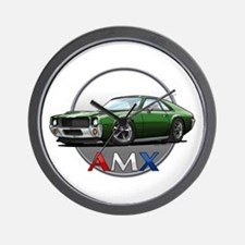 Green AMX Wall Clock