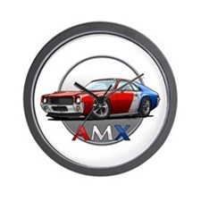Red, White & Blue racing AMX Wall Clock