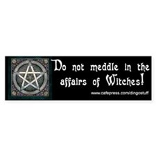 """Do Not Meddle"" Bumper Bumper Sticker"