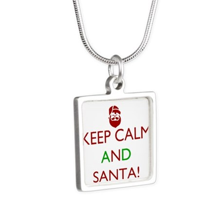 keep calm and Santa Necklaces