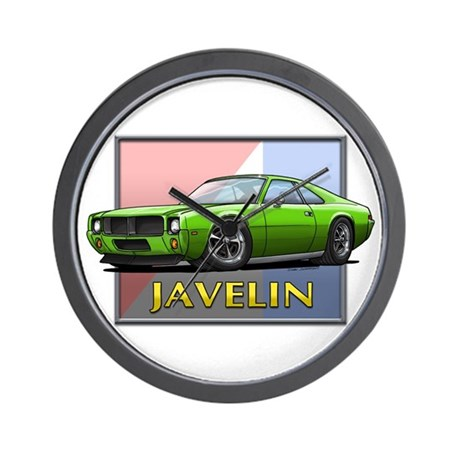 Green Javelin Wall Clock