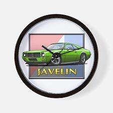 Green Javelin Wall Clock