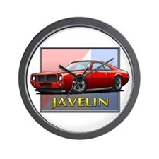Red Javelin Wall Clock