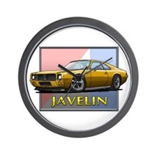 Gold Javelin Wall Clock