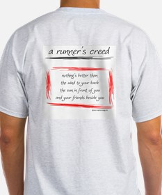 A Runner's Creed Ash Grey T-Shirt