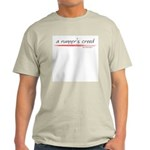 A Runner's Creed Ash Grey T-Shirt