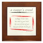 A Runner's Creed Framed Tile