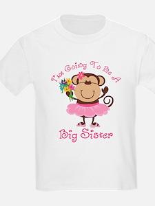 Monkey Future Big Sister T-Shirt