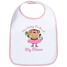 Monkey Future Big Sister Bib