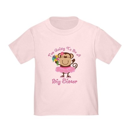 Monkey Future Big Sister Toddler T-Shirt