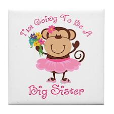Monkey Future Big Sister Tile Coaster
