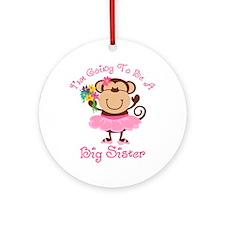 Monkey Future Big Sister Ornament (Round)